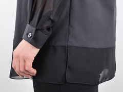Нури. Весенняя блуза плюс сайз. Черный.