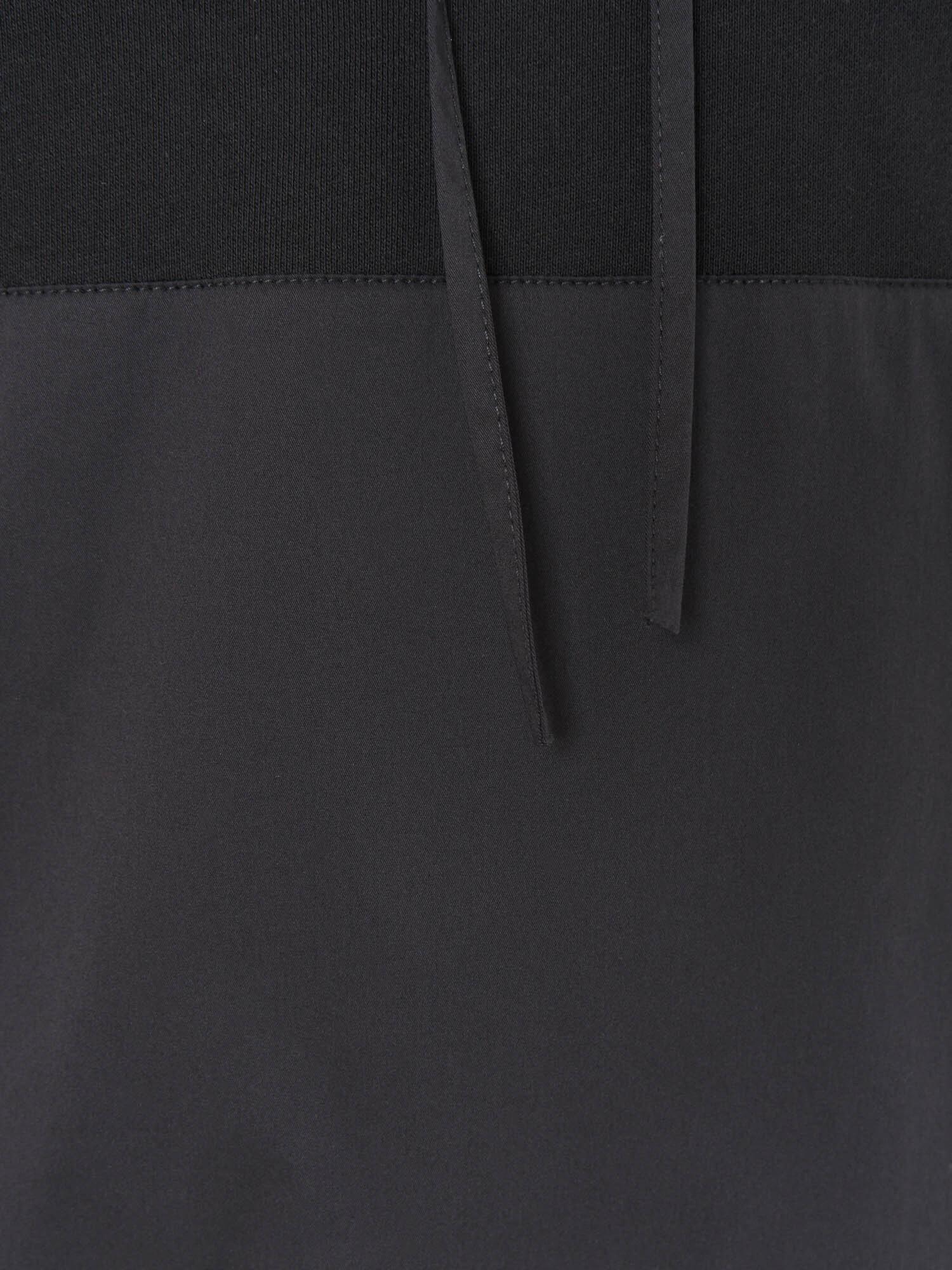 Худи Питтсбург с хлопковыми рукавами и карманом, Черный