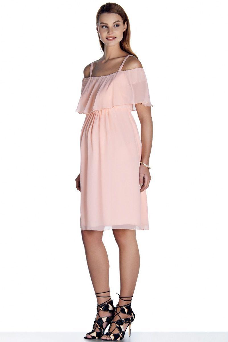 Фото платье для беременных EBRU, шифоновое от магазина СкороМама, розовый, размеры.