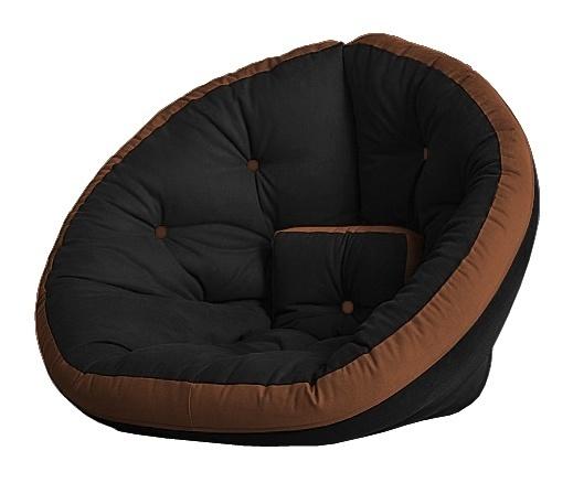 Универсальные кресла Кресло Farla Lounge Чёрное с коричневым bl_bro_bro.jpg
