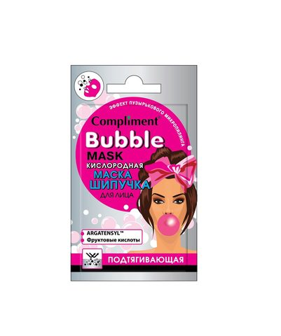 Compliment Cаше BUBBLE MASK кислородная маска-шипучка для лица подтягивающая
