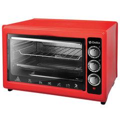 Мини печь   Духовка электрическая 1300 Вт 37 л DELTA D-0123 красная