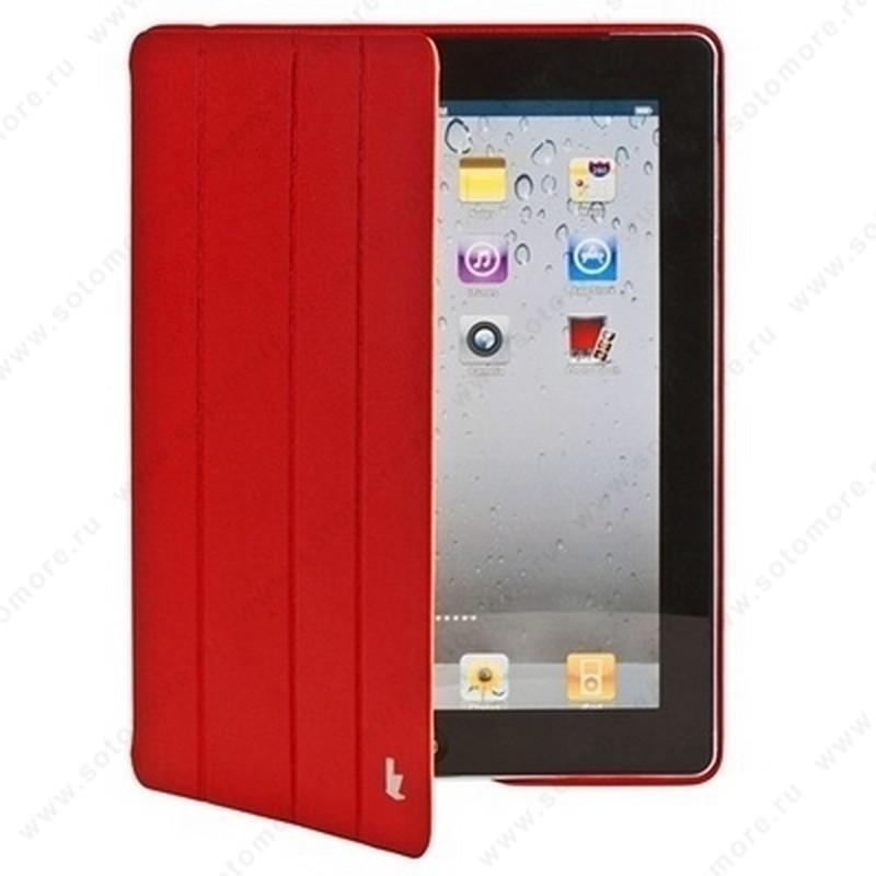 Чехол-книжка Jisoncase Executive для Apple iPad 4/ 3/ 2 красный JS-IPD-06H