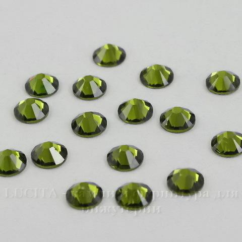 2058 Стразы Сваровски холодной фиксации Olivine ss12 (3,0-3,2 мм), 10 штук ()