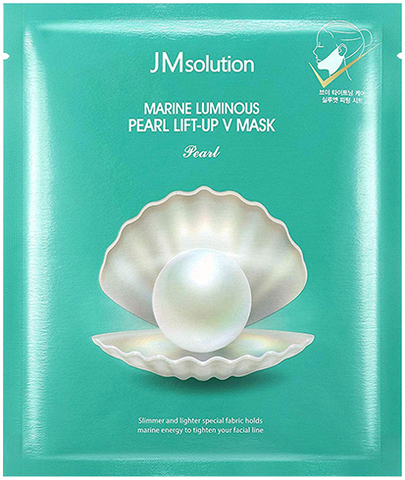 Лифтинг-Маска Для Контура Лица С Протеинами Жемчуга JM SOLUTION Marine Luminous Pearl Lift-Up V Mask