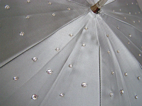 Зонт-трость Pasotti 185-21284S8 Silver Swarovski