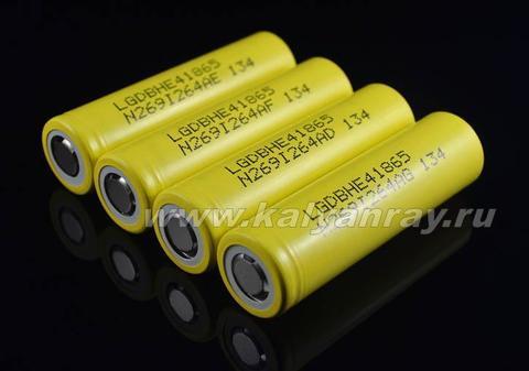 высокотоковый аккумулятор LG 18650 HE4