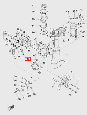Скоба фиксации наклона для лодочного мотора T5 Sea-PRO (10-39)