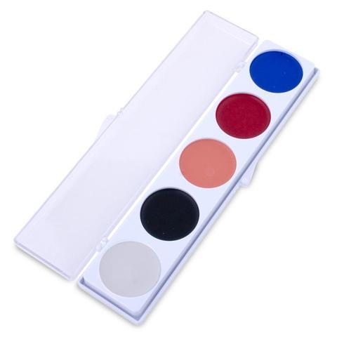 MEHRON Палитра кремового грима 5-Color Cream Palette - Clown