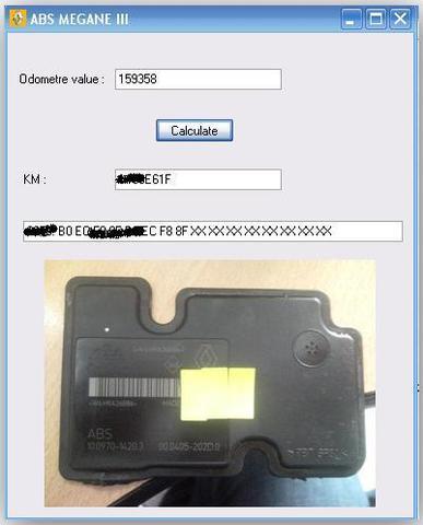 Калькулятор одометров для блоков ABS Renault Megane III