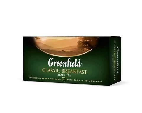 Чай черный в пакетиках из фольги Greenfield Classic Breakfast, 25 пак/уп