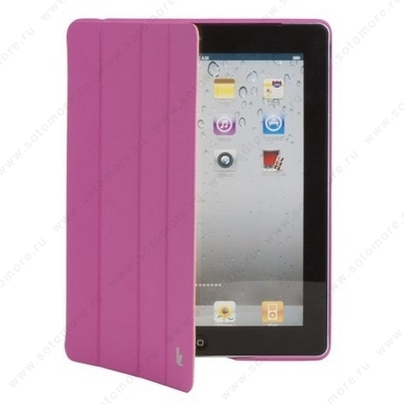 Чехол-книжка Jisoncase Executive для Apple iPad 4/ 3/ 2 ярко-розовый JS-IPD-06H