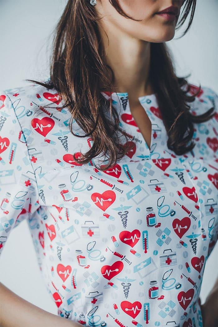 Блуза женская медицинская М 65-1 Принт