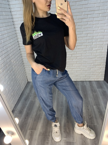 джинсы джоггеры женские недорого