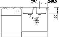 Мойка Blanco Lexa 8 - схема (вид спереди)