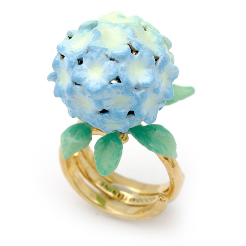 Кольцо Гортензия (голубая)
