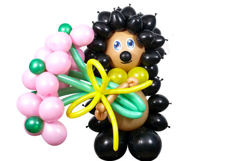 Ёжик из воздушных шаров