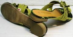 Мягкие шлепки босоножки без каблука Marco Tozzi 2-27104-20 Green.
