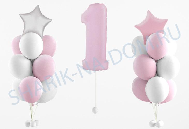 Композиции из шаров Композиция на 1 годик девочке Композиция_на_1_год_девочке.jpg