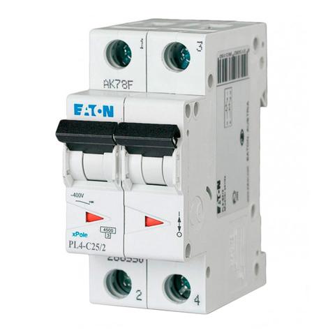 Автоматический выключатель Eaton PL4-C25/2P (293144 Moeller series)