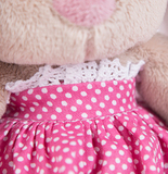 Зайка Ми в розовой юбочке с вишенками