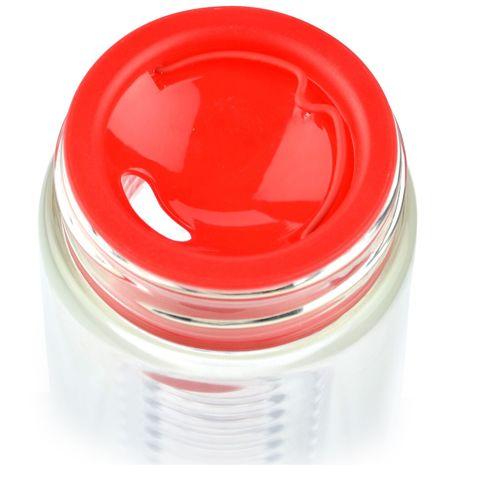 Бутылка Asobu Flavour it (0,48 литра), красная с серебристым