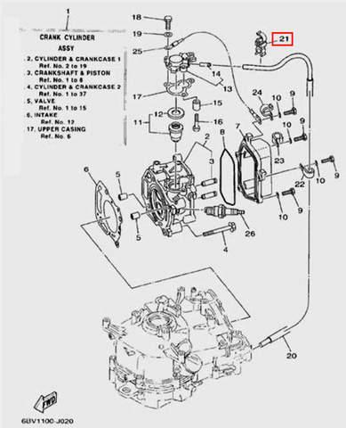 Зажим для лодочного мотора F5 Sea-PRO(2-21)