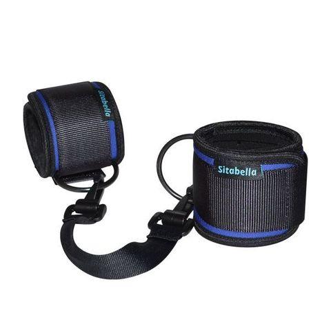 Сине-черные неопреновые оковы на ноги