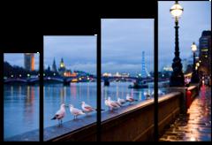 """Модульная картина """"Дождливый Лондон"""""""