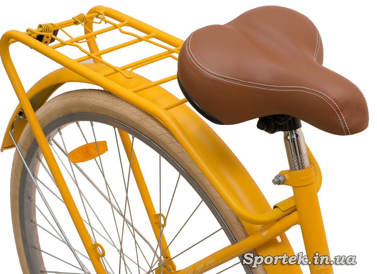 Сидение и багажник городского велосипеда Dorozhnik Retro 2016