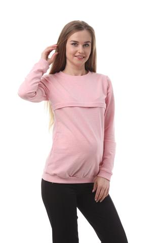 Свитшот для беременных и кормящих 10509 розовый