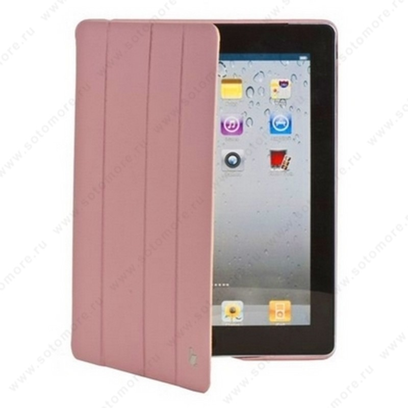 Чехол-книжка Jisoncase Executive для Apple iPad 4/ 3/ 2 светло-розовый JS-IPD-06H