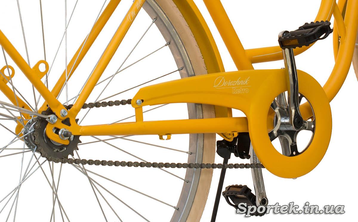 Звездочки и педали городского велосипеда Dorozhnik Retro 2016