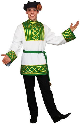 Русский народный костюм Ярослав зелёный