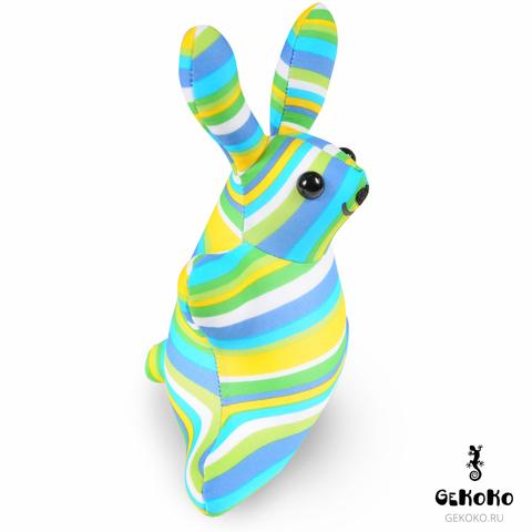 Подушка-игрушка антистресс «Зая Полосатый зеленый» 3