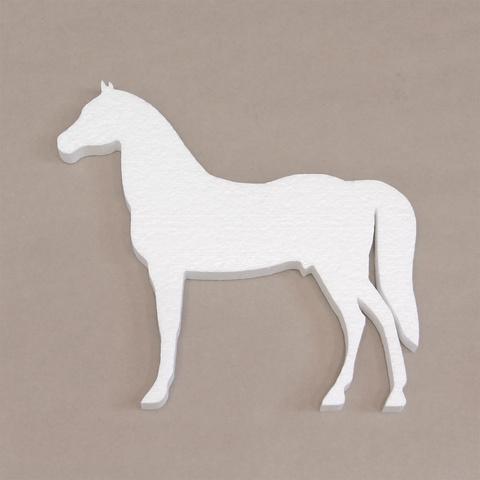 Фигура лошадь из пенопласта.