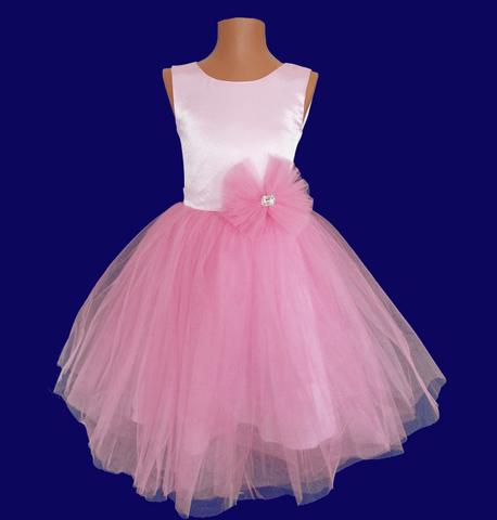 Платье пышное розовое для малышек