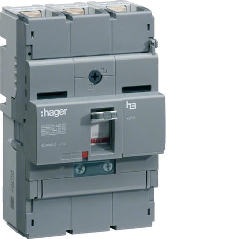 Автоматический выключатель, x250, TM рег. Im=13..6In, 3P 40kA 160-100A, 440В АС