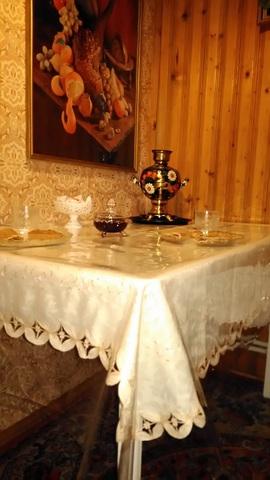 Прозрачная скатерть на кухонный стол: 140х260 см