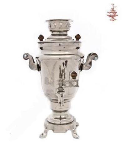 Электрический самовар (1,5л), форма Тюльпан, никель