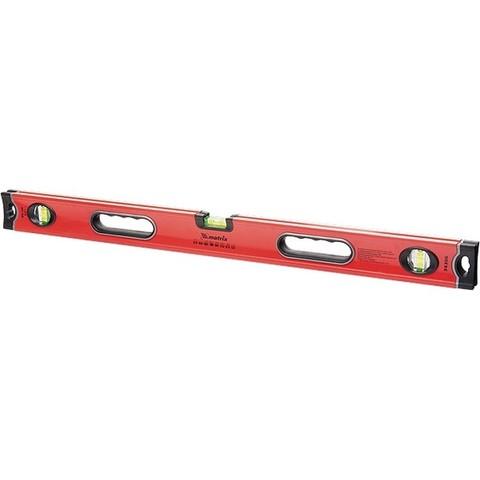 Уровень алюминиевый, 600 мм, 3 глазка, ударопрочные заглушки, двухкомпонентные ручки Matrix ProFI