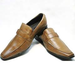 Классические туфли мужские кожаные Mariner 12211 Light Brown.