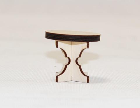 Деревянный игрушечный круглый стол (в пакетике без этикетки в наборе гостиная Graver Master Kids)