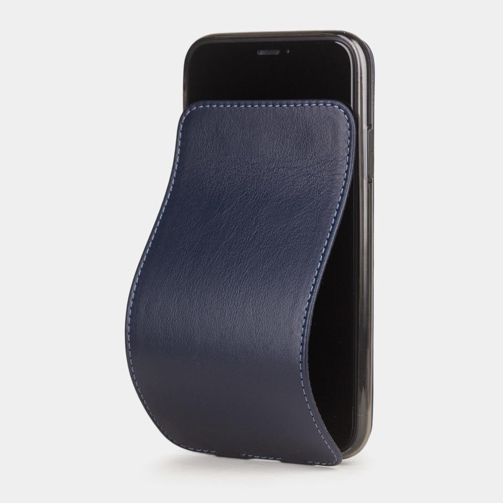 Чехол для iPhone 11 из натуральной кожи теленка, цвета индиго