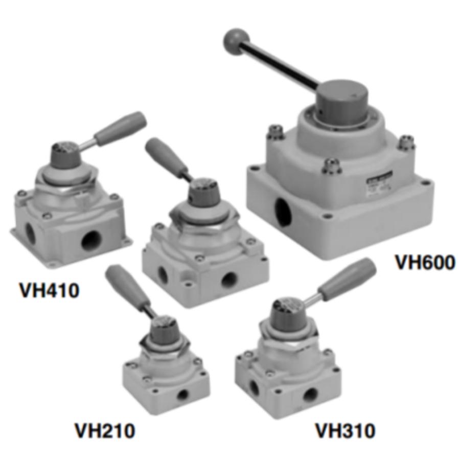 VH400-F04  4/3-Пневмораспределитель с ручным управ ...