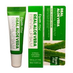 FarmStay Real Essential Lip Balm - Бальзам для губ суперувлажняющий с алоэ вера