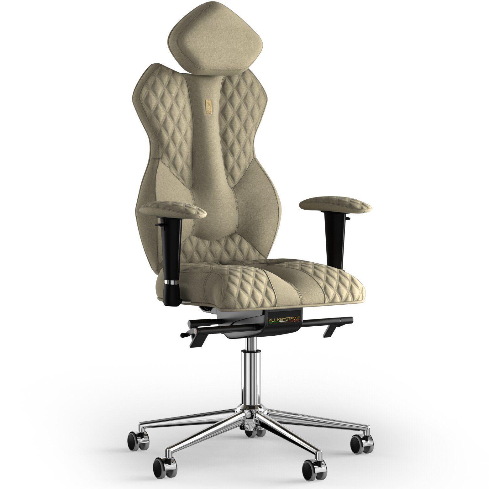 Кресло KULIK SYSTEM ROYAL Ткань с подголовником со строчкой