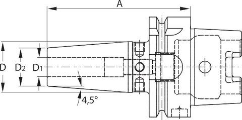 Термозажимной патрон HSK-A 63 A = 160