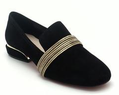 Туфли из нат. змаши с ободком из страз.