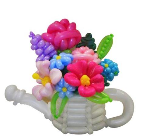цветы из шаров , цветы из шариков